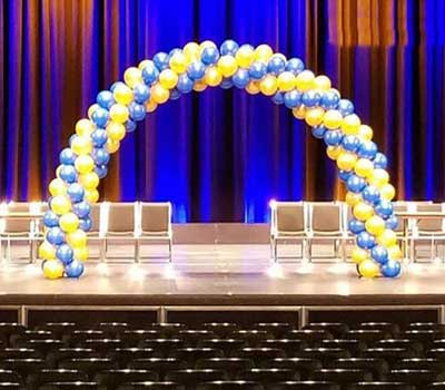 A Floating Affair balloon arches