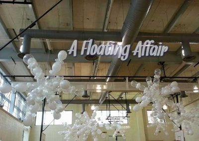 A Floating Affair balloon sculptures
