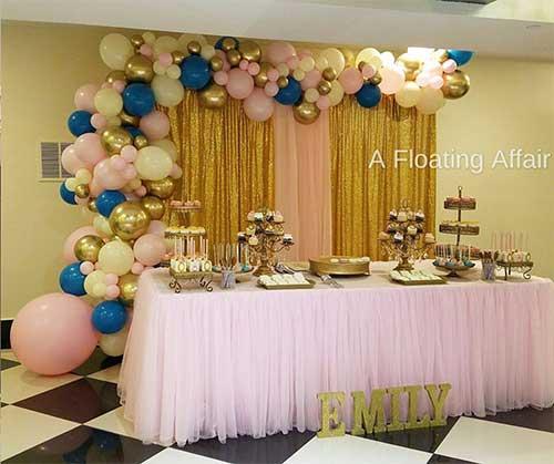 A Floating Affair Organic Balloon Decorations