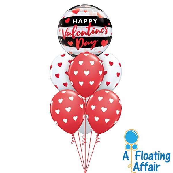 Valentine's balloon bouquet